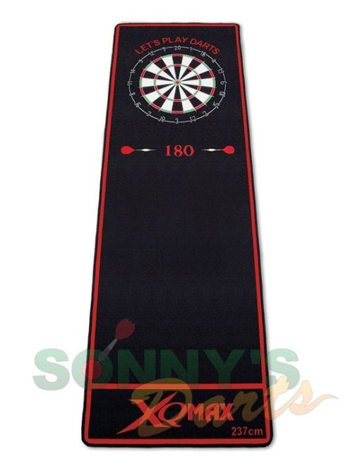 QD2100020 Dartmat black red+
