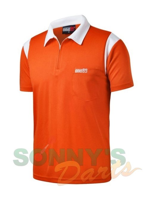 one80-polo-oranje-wit