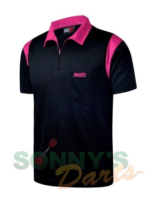 one80-polo-zwart-roze