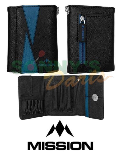 Flint Wallet Black & Blue+